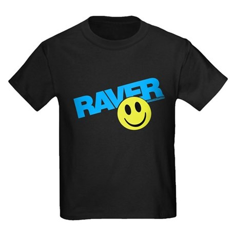 Raver Smilie Kids Dark T-Shirt