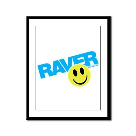 Raver Smilie Framed Panel Print
