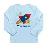 1st Birthday Rocket Long Sleeve Infant T-Shirt