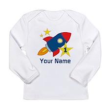 1st Birthday Rocket Long Sleeve Infant T-Shirt