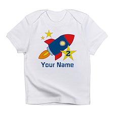 2nd Birthday Rocket Infant T-Shirt
