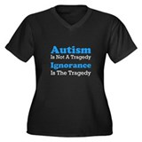 Autism Is Not A Tragedy Women's Plus Size V-Neck D