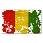 Guinea Flag Sticker (Rectangle 50 pk)