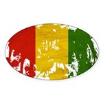 Guinea Flag Sticker (Oval 50 pk)