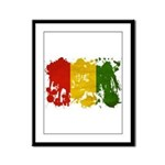 Guinea Flag Framed Panel Print