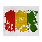 Guinea Flag Throw Blanket