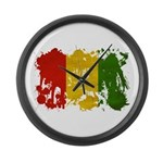 Guinea Flag Large Wall Clock