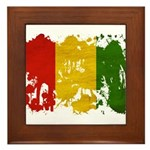 Guinea Flag Framed Tile