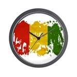 Guinea Flag Wall Clock