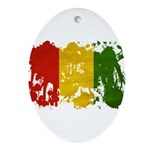 Guinea Flag Ornament (Oval)