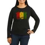 Guinea Flag Women's Long Sleeve Dark T-Shirt