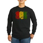Guinea Flag Long Sleeve Dark T-Shirt