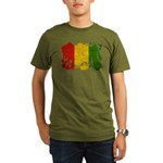 Guinea Flag Organic Men's T-Shirt (dark)