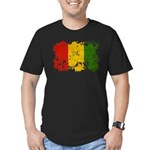 Guinea Flag Men's Fitted T-Shirt (dark)