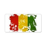 Guinea Flag Aluminum License Plate