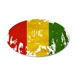 Guinea Flag 38.5 x 24.5 Oval Wall Peel