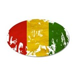 Guinea Flag 22x14 Oval Wall Peel