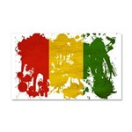 Guinea Flag Car Magnet 20 x 12