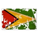 Guyana Flag Sticker (Rectangle)