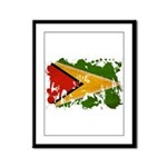 Guyana Flag Framed Panel Print