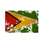 Guyana Flag Rectangle Magnet