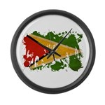 Guyana Flag Large Wall Clock