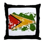Guyana Flag Throw Pillow