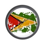 Guyana Flag Wall Clock