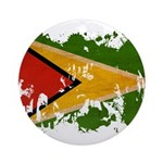 Guyana Flag Ornament (Round)