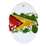 Guyana Flag Ornament (Oval)