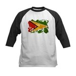 Guyana Flag Kids Baseball Jersey