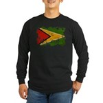 Guyana Flag Long Sleeve Dark T-Shirt