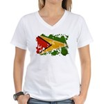Guyana Flag Women's V-Neck T-Shirt
