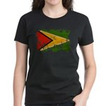 Guyana Flag Women's Dark T-Shirt