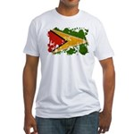 Guyana Flag Fitted T-Shirt