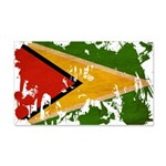 Guyana Flag 22x14 Wall Peel
