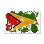 Guyana Flag Car Magnet 20 x 12