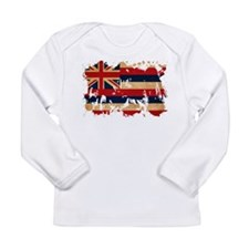 Hawaii Flag Long Sleeve Infant T-Shirt