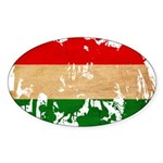 Hungary Flag Sticker (Oval)