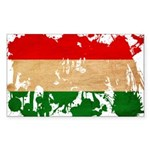 Hungary Flag Sticker (Rectangle)