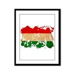 Hungary Flag Framed Panel Print