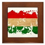 Hungary Flag Framed Tile