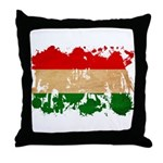 Hungary Flag Throw Pillow