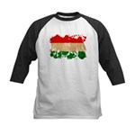 Hungary Flag Kids Baseball Jersey