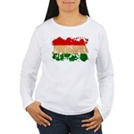 Hungary Flag Women's Long Sleeve T-Shirt