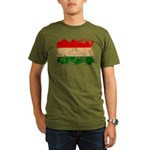 Hungary Flag Organic Men's T-Shirt (dark)