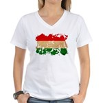 Hungary Flag Women's V-Neck T-Shirt