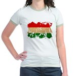 Hungary Flag Jr. Ringer T-Shirt