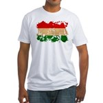 Hungary Flag Fitted T-Shirt