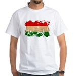 Hungary Flag White T-Shirt